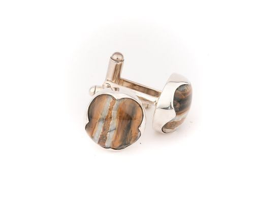 Fossilized Mammoth Tooth Cuff Links