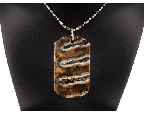 Fossilized Mammoth Tooth Pendant