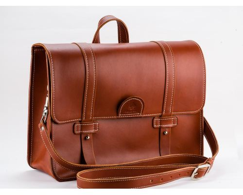 Handmade Leather Pilot's Bag Briefcase