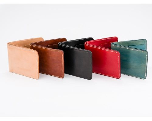 Handmade Classic Billfold Vegetable Tanned Bridle Leather Wallet