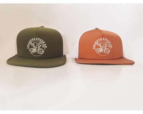 Sockeye Cycle Honeycomb Trucker Logo Hat